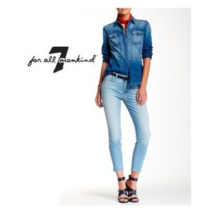 NEW 7 For All Mankind Kimmie Crop Skinny Jeans